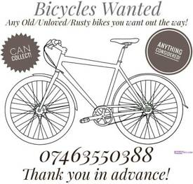 Bicycles Wanted!