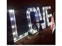 3D Love Letters with Lights