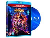 Brand New Sealed Avengers infinity war 2D & 3D blu ray UK version