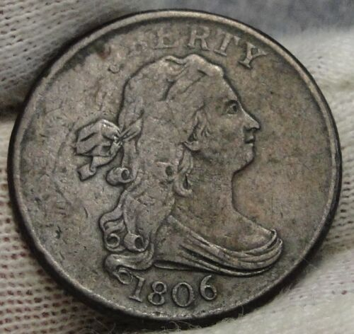 1806 Draped Bust Half Cent - Nice Coin, Free Shipping  (7506)