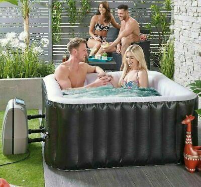 *NEW!* 4-6 Person Square Black Hot Tub Jacuzzi+Accessories Like Spa Vegas Cancun