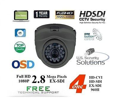 NIB 2.8MP Sony Exmor V3 Progressive Scan  3.6MM Indoor 24IR Dome HD-SDI