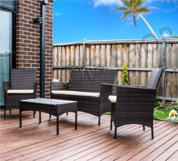 Brand new 4 Pieces Rattan Wicker outdoor pool, Garden furniture