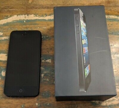 Apple iPhone 5 - 32GB - Black & Slate (AT&T) Good Used Condition Factory Reset