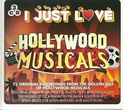I JUST LOVE HOLLYWOOD MUSICALS 3 CD BOX SET - Seven Brides King and I Many more