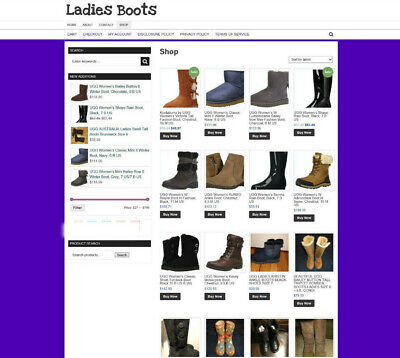 Fully Stocked Ladies Boots Store Website With Affiliate 1 Years Hosting