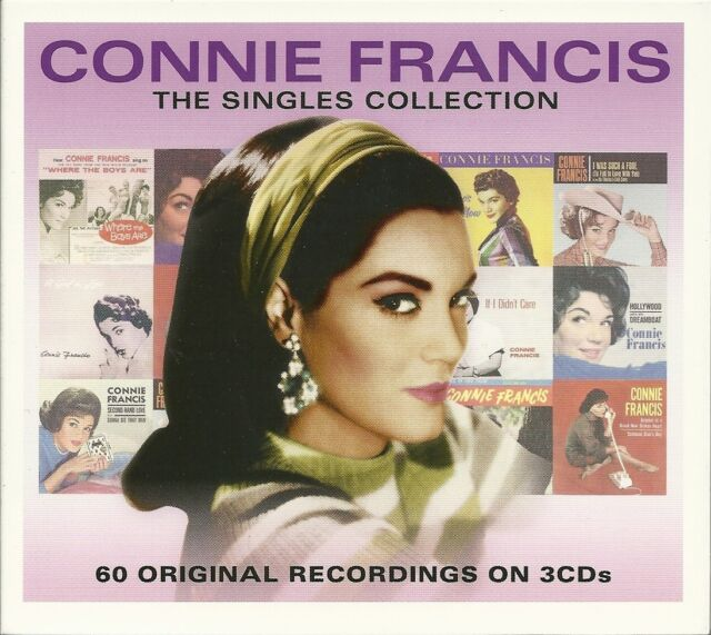 CONNIE FRANCIS THE SINGLES COLLECTION - 3 CD BOX SET - WHO'S SORRY NOW & MORE