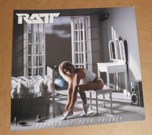 Ratt Invasion of Your Privacy Poster Flat Square 1985 Promo 12x12