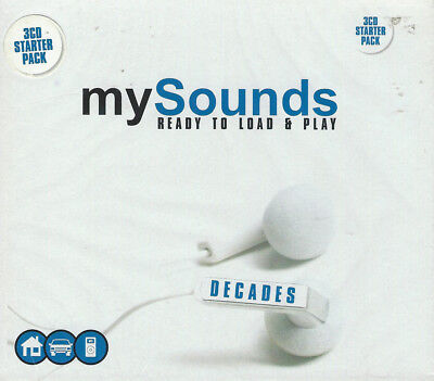 MY SOUNDS Ready To Load & Play 3 CD Set 60s 70s 80s Big Hits & rare Track  NEW