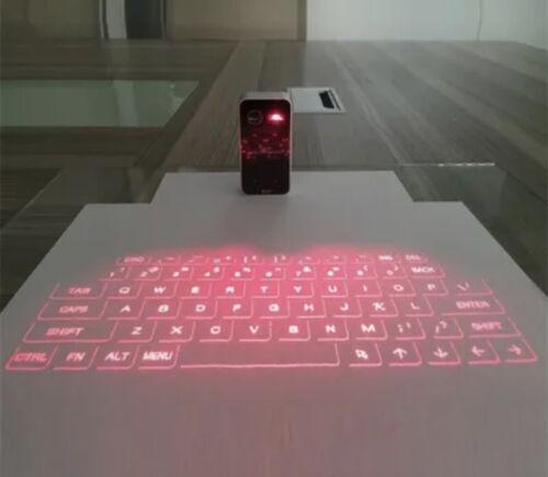 Clavier virtuelle de projection sans fil clavier laser bluetooth portable facile