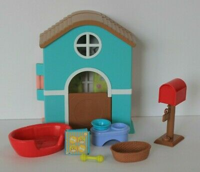 Mattel Barbie Dream Puppy House Playset Pink Blue House Basket Toys RARE