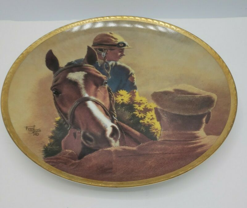 Vintage Northern Dancer Bill Hartack Up by Fred Stone 1991 Collector Plate #171