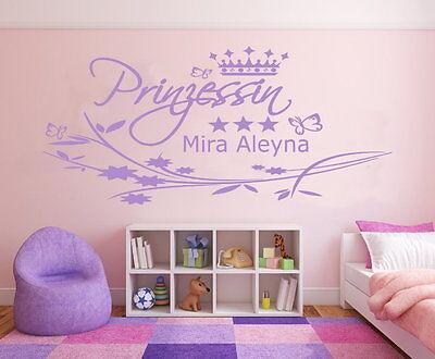 Baby-prinzessin (Wandtattoo NAME Kinder Mädchen Wunschname Kinderzimmer Baby Prinzessin pk101)
