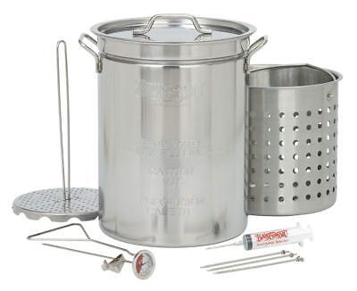 Bayou Classic 1118 32-Quart Stainless Steel Turkey Fish Fryer Boiler Set Kit (Bayou Classic Boiler)