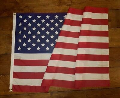 Large Vintage Style Tea Stained American Flag (89x147cm)