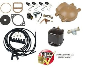 Complete Ignition Tune up kit Ford 9N 2N 8N Tractor 12V Front Mount Distributor