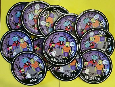 2 × 12Ct Happy Halloween Round Plates For Kids. Essential For Your Dinner Table