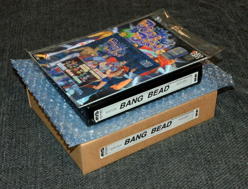 Bang Bead Progress US English MVS Kit •Neo Geo JAMMA Arcade System • SNK Visco