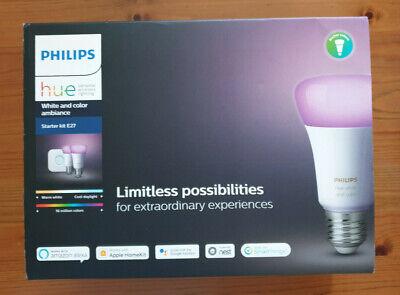 Philips Hue White and Colour Ambiance Mini Starter Kit E27