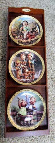 Set of 3 Millennium Plate Collection Hummel / Danbury Mint #A3764 w/ Plate Rack