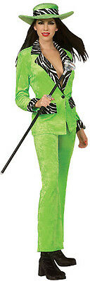 Midtown Momma Mama Pimp Ho Green Zebra Halloween Adult Costume