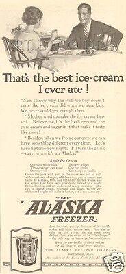 VTG 1922 ALASKA Ice Cream Freezer APPLE RECIPE Best Ever Husband KITCHEN Food