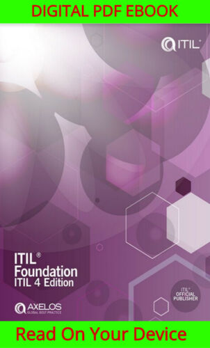 Itil Foundation, Itil 4 Edition {ṖDF}