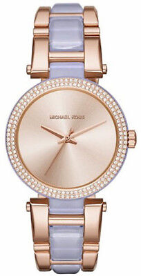 Michael Kors Women's MK4319 Delray Rose Gold Tone Stainless Steel Ladies Watch