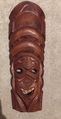 Wood Mask African Tribal ? Wooden Display Hand Made