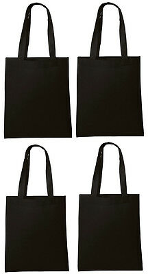 Lot 10 Tote Bag Reusable Black Shopping Grocery Travel Cheap Bulk Wholesale NEW](Wholesale Totes)