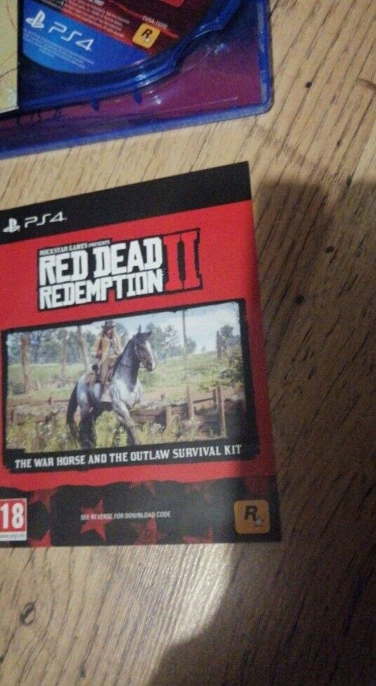 Ps4 red dead redemption 2 with warhorse and outlaw survival kit dlc   in  Pontypool, Torfaen   Gumtree