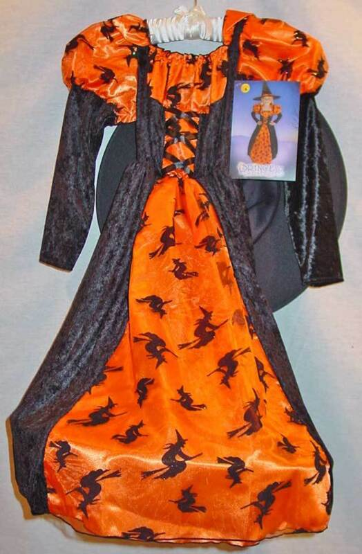 PRINCESS PARADISE GIRLS ORANGE HALLOWEEN WITCH COSTUME SIZE 6 NEW WITH TAGS