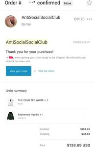 Anti Social Social Club - The Club Tee London Ontario image 3