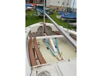 Wayfarer Dinghy for sale, comes ready to sail with outboard, sails and trailers.