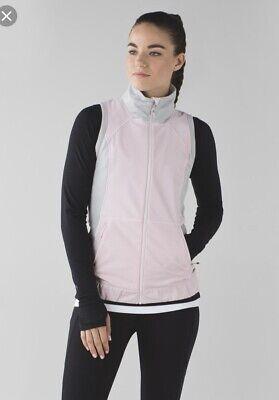 lululemon 6 Vest Lets Get Visible Reflective Pink