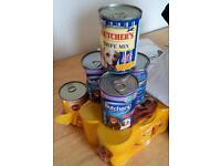 13 cans of dog food