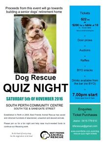 Quiz Night on 05/11/16 (South Perth) East Perth Perth City Area Preview