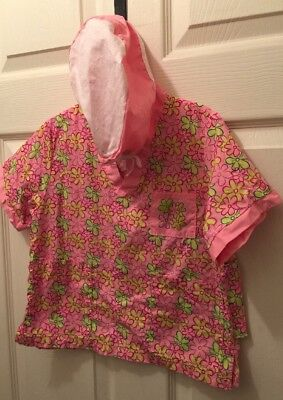 Kids Girls Pink Floral Scrubs Top Nurse Medical Costume Scrub Sz 4-6 Halloween - Nursing Costumes