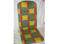 Used padded seat cover for outdoor garden seat. Excellent condition with bag. See other items.