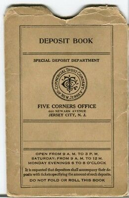 Commercial Trust Company of New Jersey, Jersey City NJ Deposit Book - Jersey City Party City
