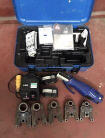 Geberit novopress cordless ACO 201 crimping kit plumbers