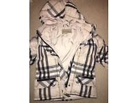 Burberry Girls showerproof puffer coat age 8