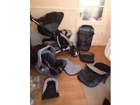 Mothercare trenton pram pushchair travel system & car seat & accessories complete set
