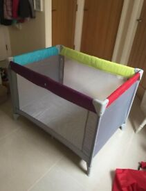 Mothercare jewel travel cod and play pen