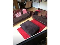 Barker and Stonehouse Sofa and Puffy