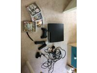 PlayStation 3 console with games