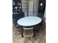 Vintage Gateleg Dining Table & Four Ercol Style Chairs