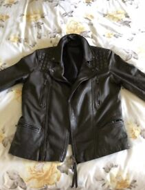 All Saints mens leather jacket
