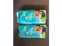 Pampers size 3 nappies.