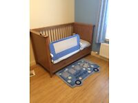 Cot, cotbed and drawers